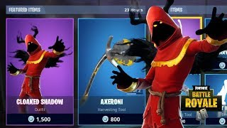 NEW CLOAKED SHADOW SKIN NEW FORTNITE ITEM SHOP UPDATE (Fortnite Battle Royale)
