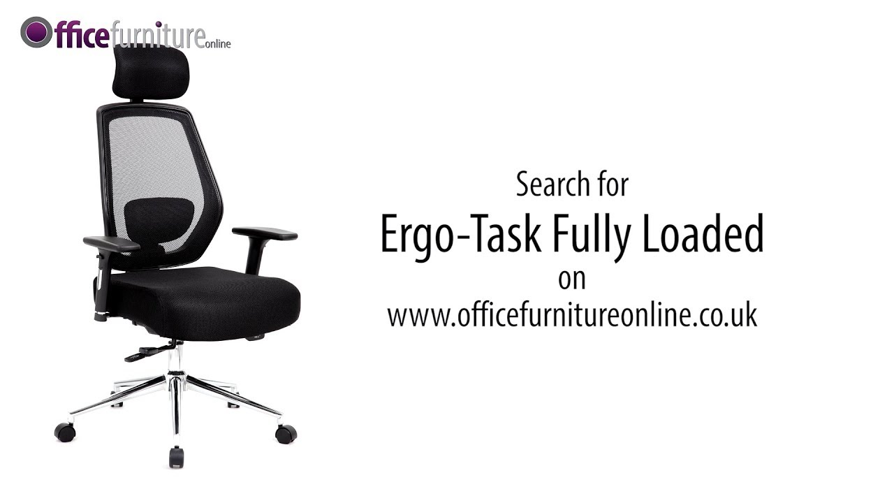 Ergo Task Fully Loaded Mesh Office Chair Features