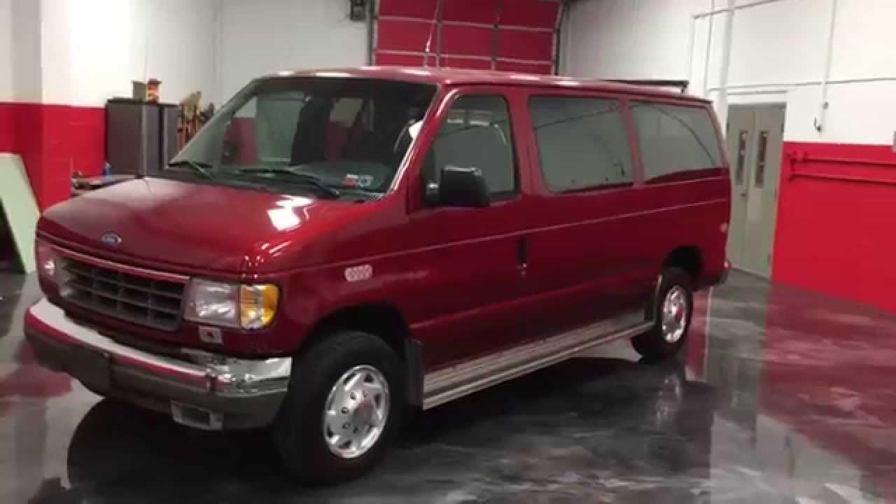 1996 e 350 club wagon xlt 11 passenger van 7 3 power stroke turbo diesel 18k miles sold youtube