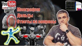 Миография. Напряжение мышц. Мощность работы мышц. Средняя дельта.  Эффективность упражнений. Стрим.
