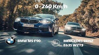 COMPARATIVE!! BMW M5 F90 600HP Vs MERCEDES BENZ E63S W213 612HP - AWD Vs AWD
