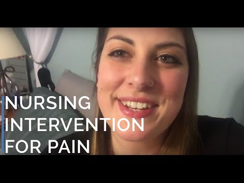 Dr012 Nursing Interventions To Pain