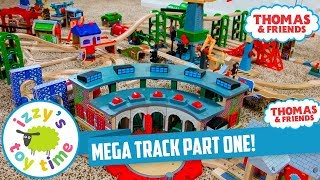 Thomas and Friends MEGA TRACK PART ONE! Fun Toy Trains for Kids with Brio and Thomas Train