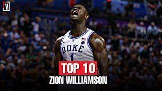Zion Williamson' Top 10 Blocks of the 2018-19 NCAA Season | Monster Blocks!