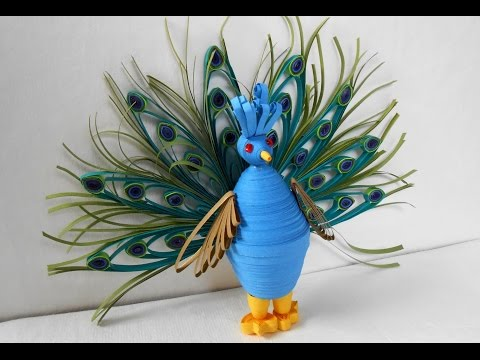 3D Quilling Peacock - Making Tutorial | Quilling Miniatures Showpiece