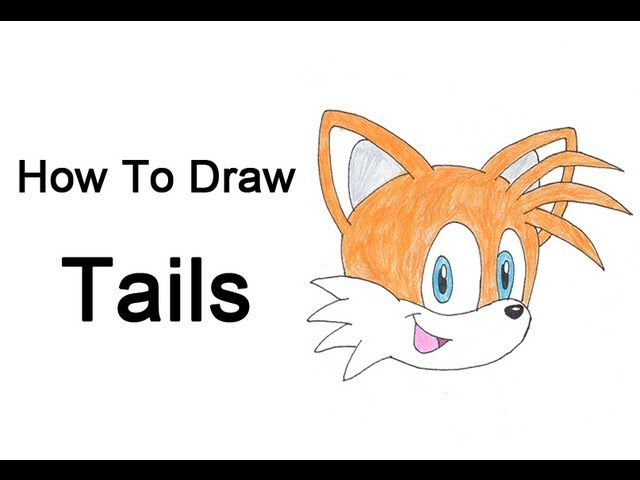 How To Draw Tails Sonic The Hedgehog Youtube