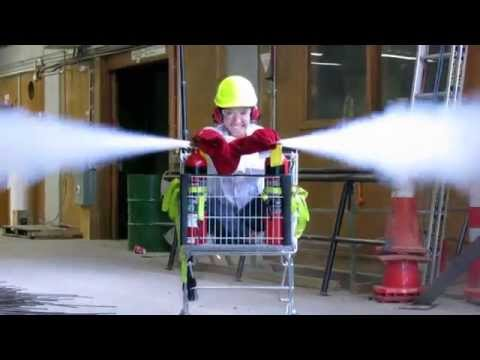 Fire Extinguisher Powered Shopping Trolley