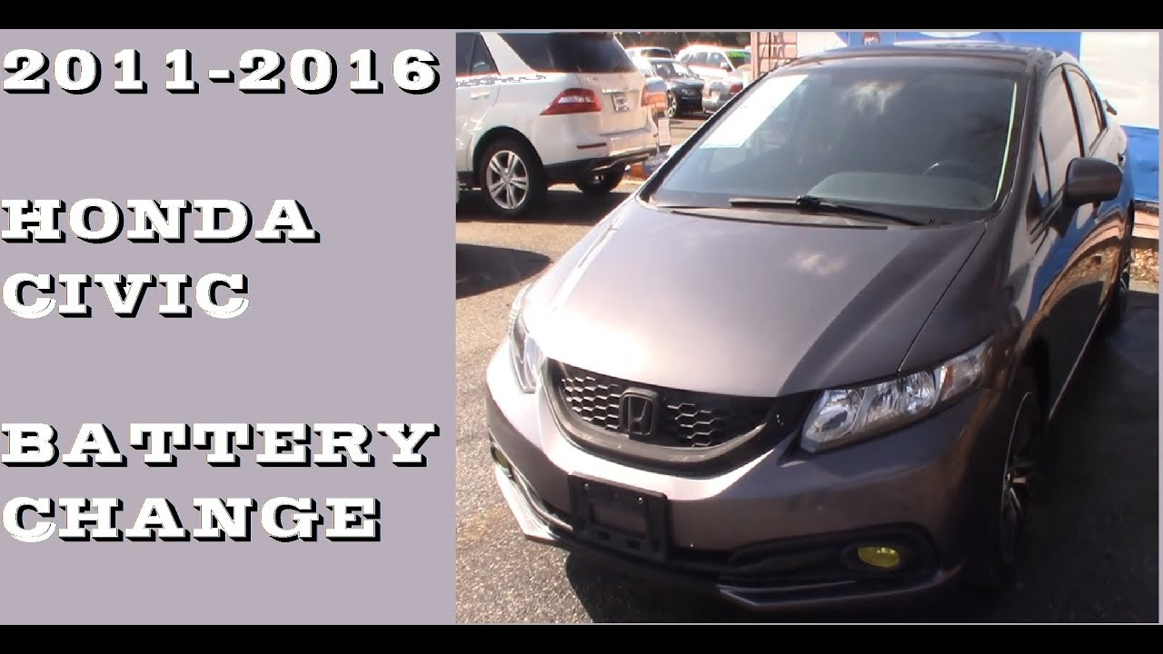 How To Remove Replace Battery In 2017 2016 Honda Civic