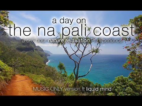 6HR REAL TIME HAWAII NATURE: (+ music) Kauai's Nā Pali Coast: Kalalau Trail ™ in HD