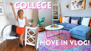 COLLEGE MOVE IN VLOG! SENIOR YEAR (PART 1)