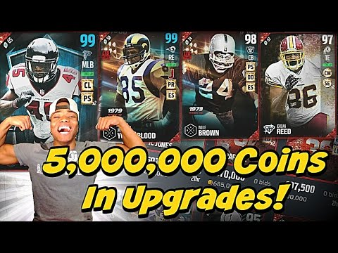 5,000,000 Coin UPGRADES! 99 Overalls Everywhere! | Madden 17 Ultimate Team Auction Block