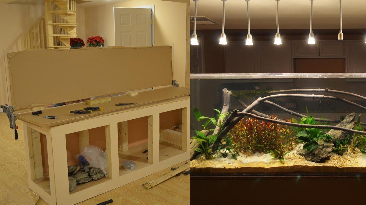 Diy 240 Gallon Fish Tank Build And 1st Aquascape 2014 Doovi