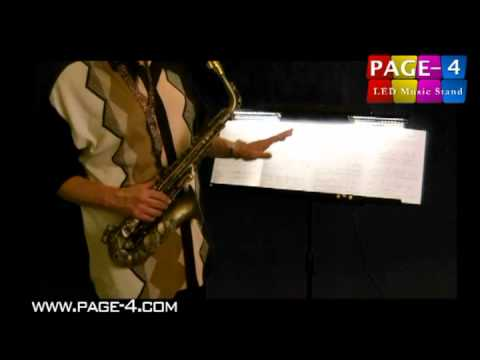 Page-4 LED Music Stand - The Bigger & Brighter Solution !