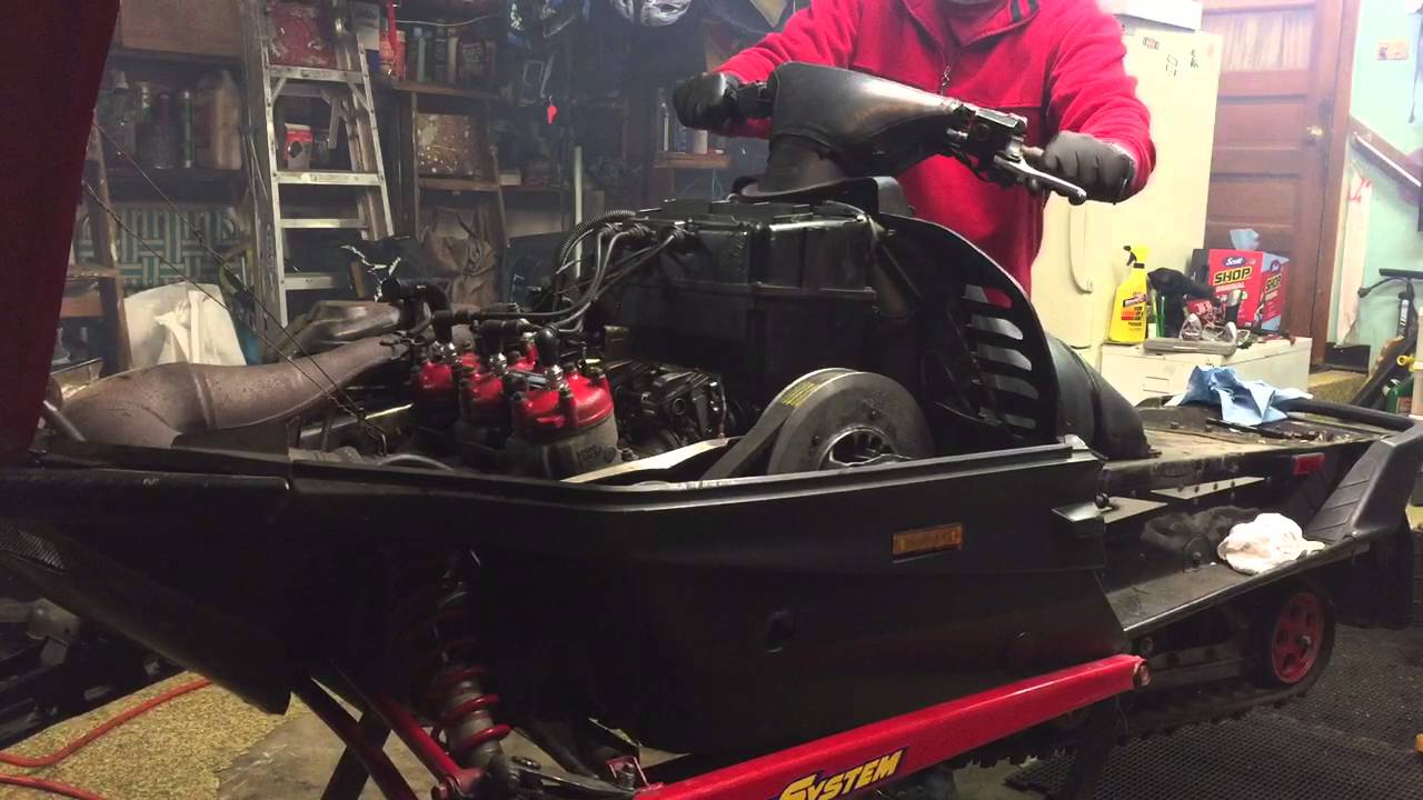 hight resolution of 1997 yamaha vmax 700 sx snowmobile tors not working video 1