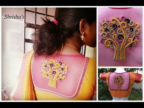 Beautifully Designed BackOpen Blouses || Latest South India Fashion