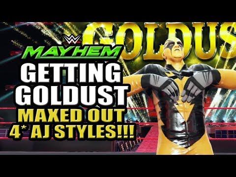 WWE Mayhem - Maxed Out 4 Star AJ Styles!!! Getting Goldust Event