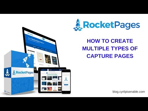 RocketPages Training - How To Create Different Kinds Of Capture Pages