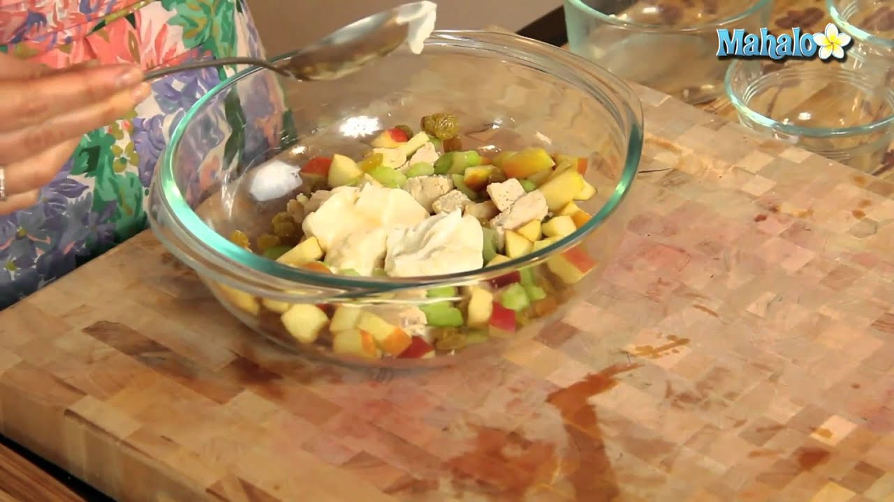 How To Make Chicken Salad With Apple Walnuts And Golden Raisins