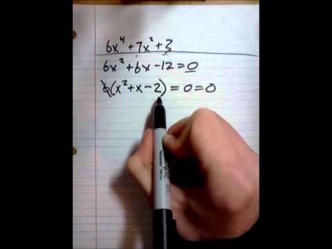 Math- How to factor- Math Help How to- Factoring - YouTube