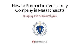 How to Form an LLC in Massachusetts