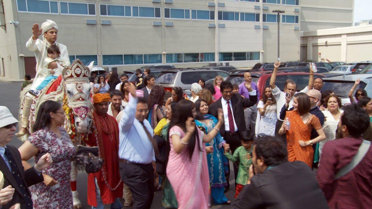 indian wedding baraat at renaissance newark airport hotel