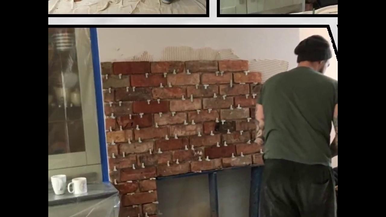 Fireplace Brick Slips Just Walls Uk - YouTube