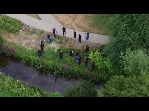 Police Search of Queen Elizabeth Gardens in Salisbury (July 2018)