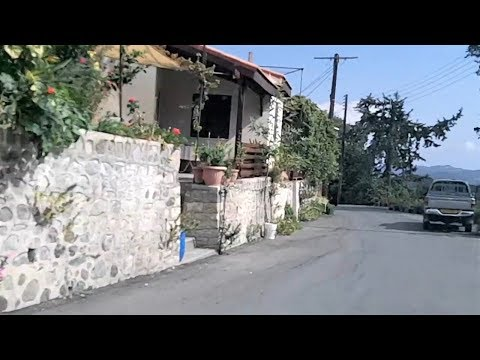 Driving In Agios Konstantinos Village In Cyprus (Oct 13, 2018)