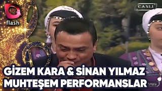 Gizem Kara ve Sinan Yılmaz& 39 dan Muhteşem Performanslar Flash Tv
