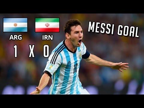 Lionel Messi fantastic late goal vs Iran   World Cup 2014
