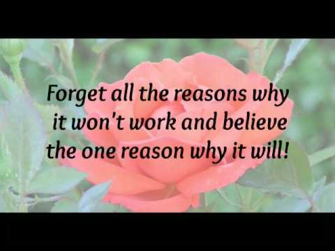 Forget all the reasons.....