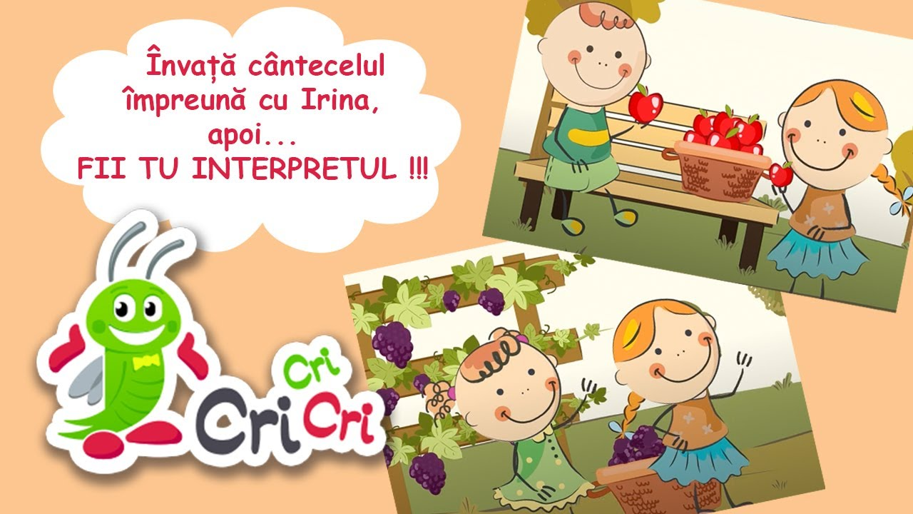 A, a, a, acum e toamna, da! | Invata cantecelul impreuna cu Irina | CriCriCri #cantecepentrucopii