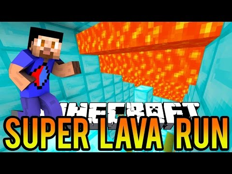 RACE AGAINST LAVA! - Minecraft SUPER LAVA RUN PARKOUR With The Pack