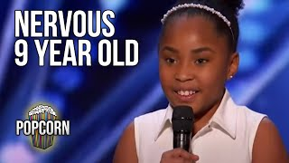 NERVOUS 9 YEAR OLD KID SINGER  VICTORY! All Auditions \u0026 Performances On AMERICA'S GOT TALENT 2021