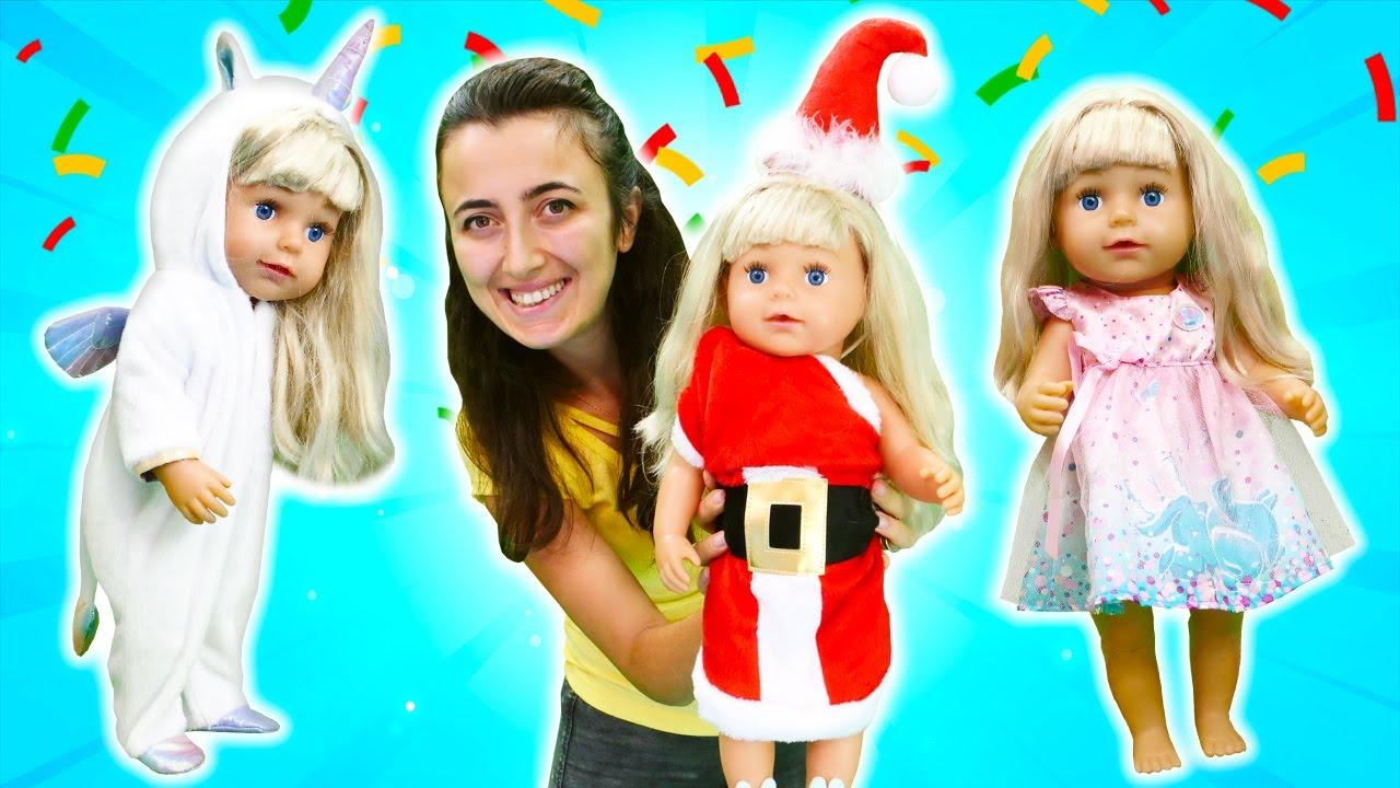 Baby Born parti için kostüm seçiyor! Kız oyunları.