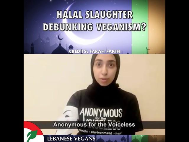 Halal debunking veganism?