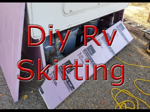 How to skirt an rv. - YouTube