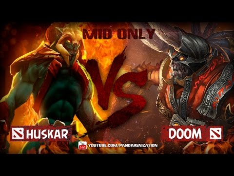 видео: huskar vs doombringer [Битва героев mid only] dota 2