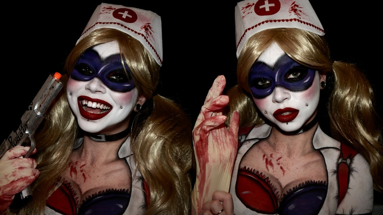 Harley Quinn Arkham City Makeup