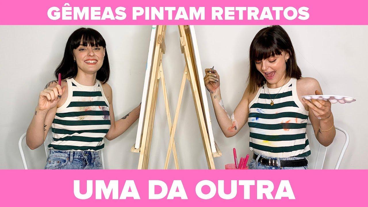 Gêmeas Pintam Retratos Uma Da Outra - Patrocinado por Vanish Brasil