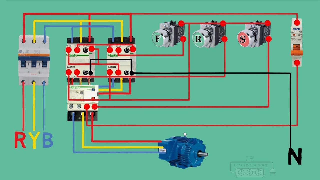 reverse forward dol starter control wiring
