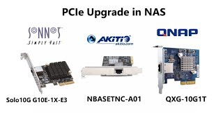 10Gbe PCIe Comparison Akitio - QNAP - Sonnet