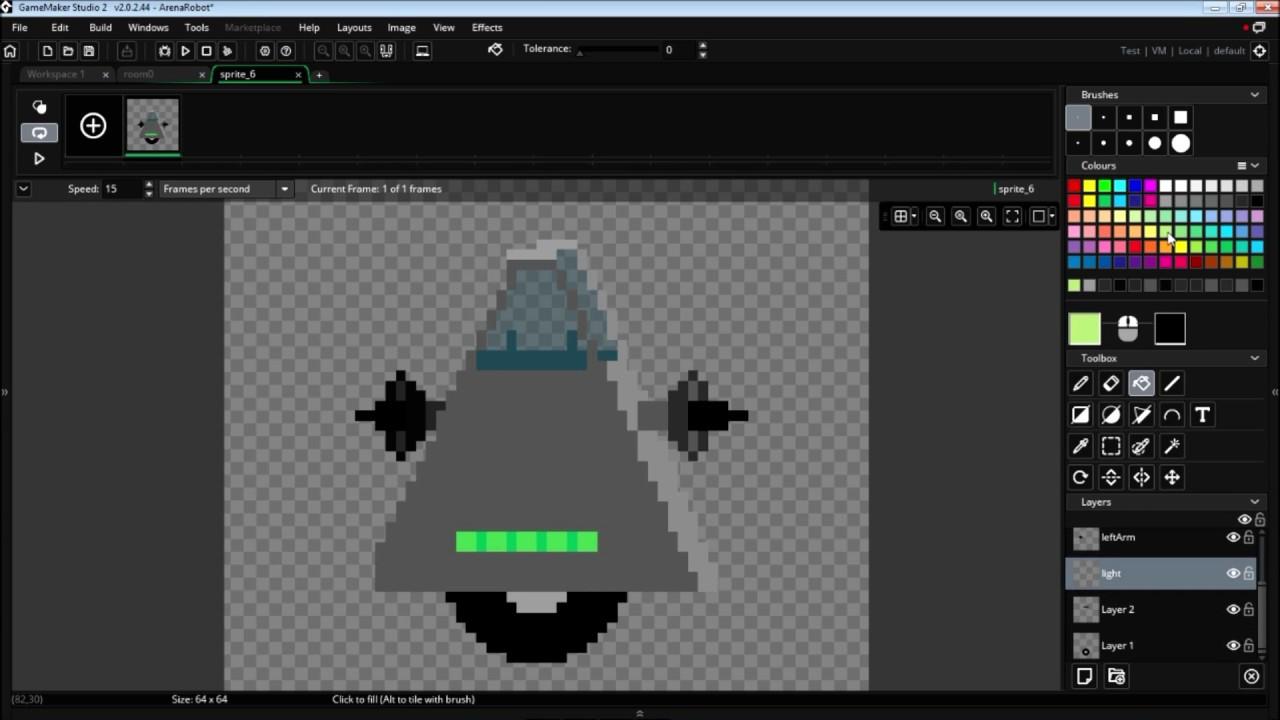 Robot Pixel Art Speed Paint Gamemaker Studio 2 Sprite