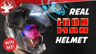 Metal Iron Man Helmet WITH DISPLAY!