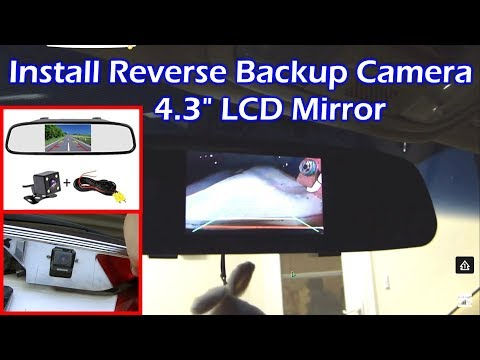 Install Rear View Backup Camera On Honda Odyssey Youtube