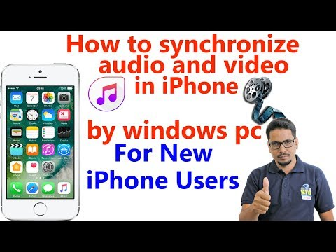 How to synchronize audio and video in iphone by windows pc