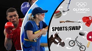 Boxing vs Skeet Shooting | Can They Switch Sports? | Sports Swap Challenge