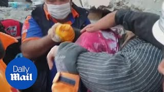 Turkey Earthquake: Rescue Workers Pull Elderly Woman Out Of Rubble