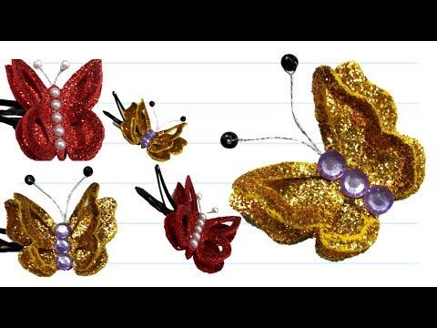foam  sheet craft ideas / butterfly craft / glitter foam sheet butterfly decoration