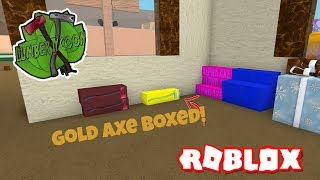 NEW GLITCHED GOLDEN AXE!! | Lumber Tycoon 2 ROBLOX (SOLD FOR 1 MILLION) (Troll)